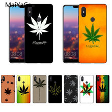MaiYaCa plant leaves Cannabis leaf For Xiaomi Mi 8 SE Black case cover For Xiaomi Redmi Note2/5 MAX2 MIX1 MI8 Note2 3 phone case(China)