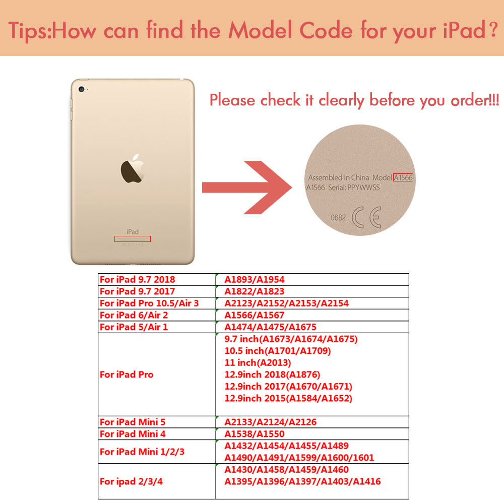 ipad-modle-code
