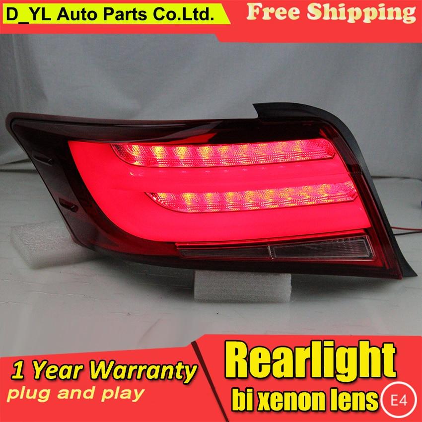 Car Styling for Tail Lights 2013 2016 Toyota Vios LED Rear Light Fog light Rear Lamp