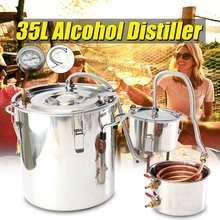 35Л медный Самогонный спирт, виски, дистиллятор воды, котел из нержавеющей стали, домашнее кухонное ПИВОВАРЕНИЕ+ бочонок Thumper+ конденсаторный бочонок