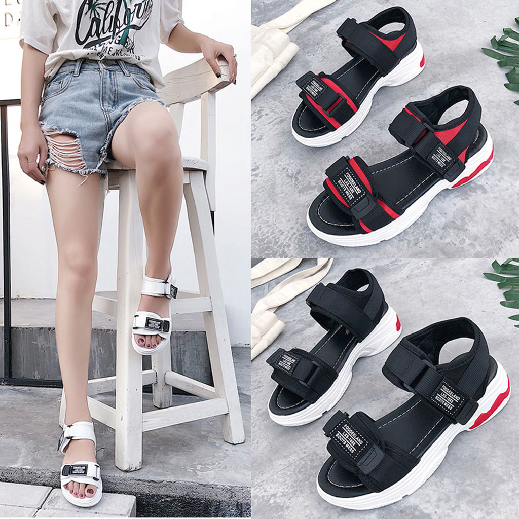 Sport shoes woman sandals Fashion Casual Summer Thick Platform Med Heel Shoes Gladiator Sandals Women Peep toe Lace up#g2 remote control charging helicopter