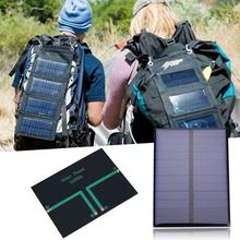 amzdeal 1.2W 6V Polycrystalline Solar Panel Battery Charger 112x84mm Outdoor Portable Travelling Powerbank Power Supply Board