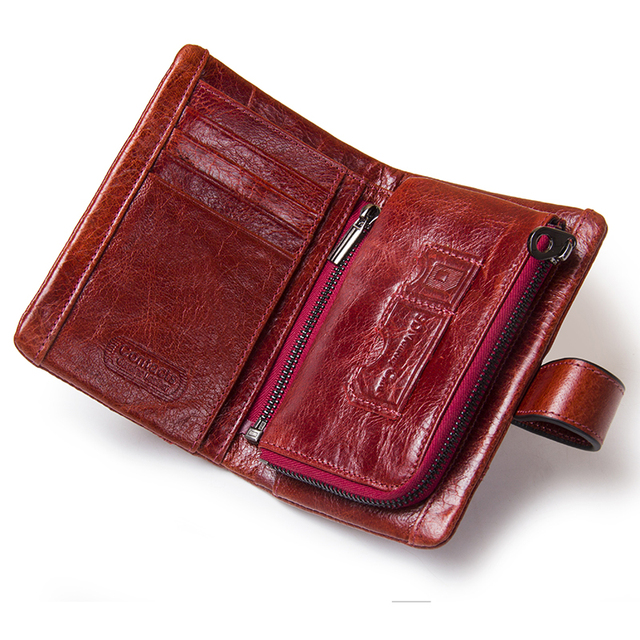 HOT!!! Genuine Leather Women Wallet Female Small Card Holder Money Bag Lady Perse For Girls Coin Purse Portomonee Rfid Walet