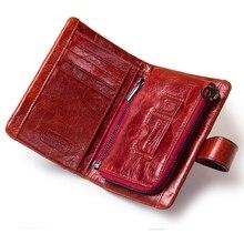 חם!!! עור אמיתי נשים ארנק נקבה קטן כרטיס בעל כסף תיק גברת Perse עבור בנות מטבע ארנק Portomonee Rfid Walet
