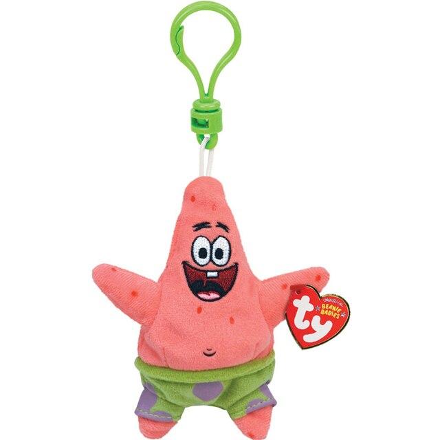 pyoopeo ty beanie babies 5 13cm patrick starfish clip keyring plush