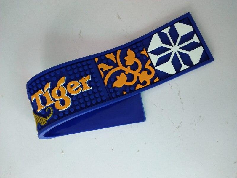 New blue desk table pad bar mat soft rubber mat waterproof filter pads