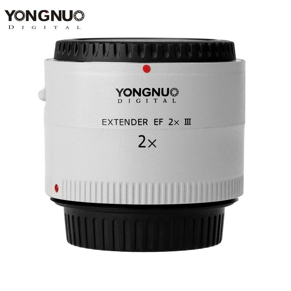 100 D'origine Yongnuo YN-2.0X III PRO 2x Téléconvertisseur Extender Auto Focus Monture Camera Lens pour Canon EOS EF Objectif