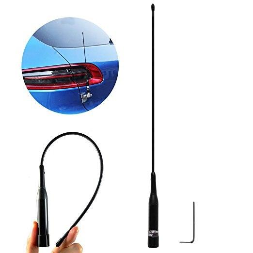 imágenes para Abbree NL-R2 PL259 Doble Banda Antena de Alta ganancia 144/430 Mhz para la Radio de Coche Moible radioafición
