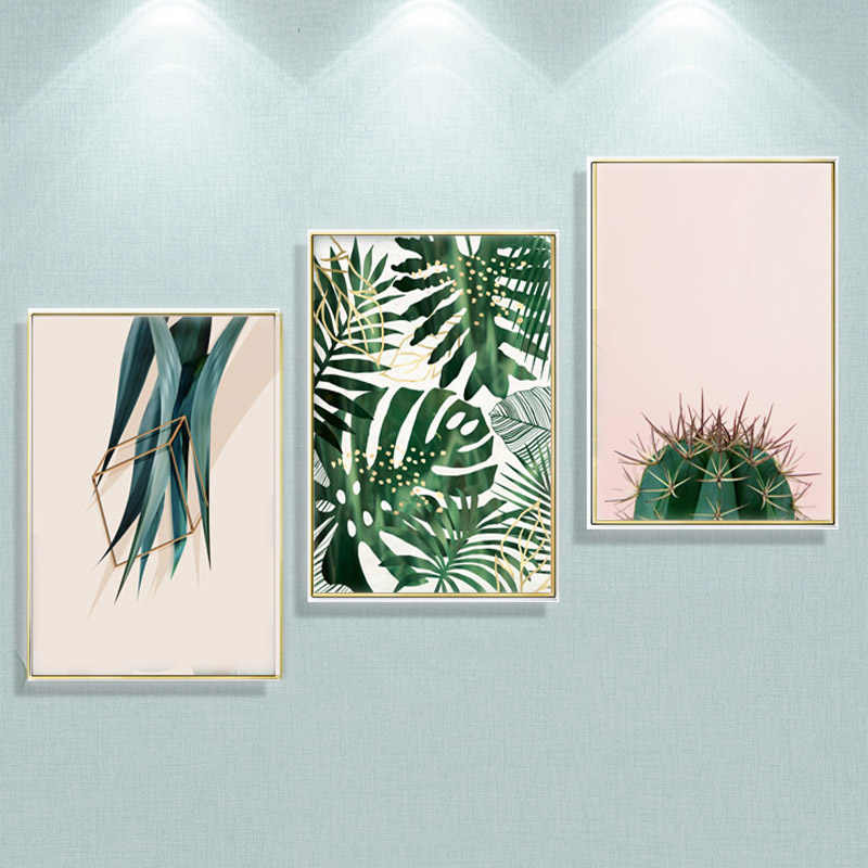 Cactus Plant Canvas Prints Posters And Prints Wall Pictures For Living Room Wall Art Canvas Painting Cuadros Decoracion no frame