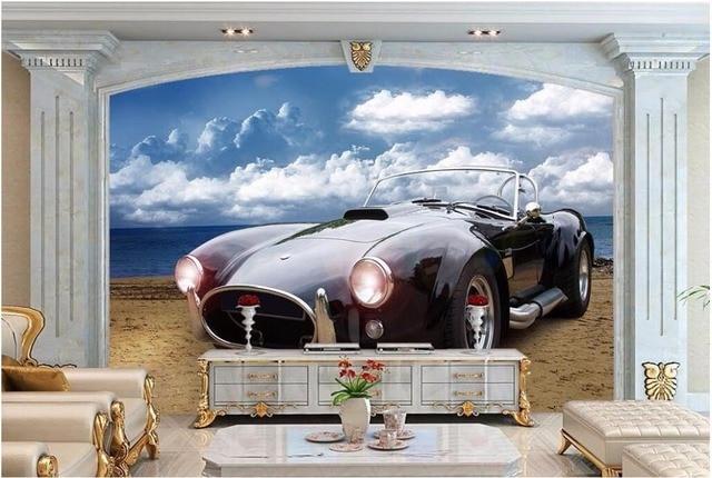 Perfect 3d Wallpaper Benutzerdefinierte Foto Mural Europäischen Cobra Auto  Hintergrund Bild Zimmer Dekor Malerei 3d Wandbild Tapete