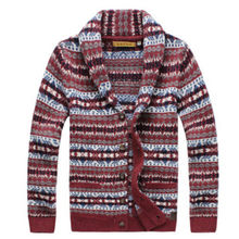 Free shipping Men's fashion casual wool jacquard cardigan sweater quality outerwear winter coat jacket outerwears
