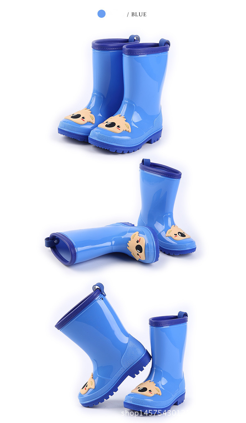 10.Rain Boots Kids for Boys Girls Rain Boots Waterproof Baby Non-slip Rubber Water Shoes Children four Seasons Rainboots
