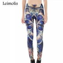 цена new 3D print Dark flower winter warm Harajuku punk adventure time workout push up spandex plus size fitness leggings women pants онлайн в 2017 году