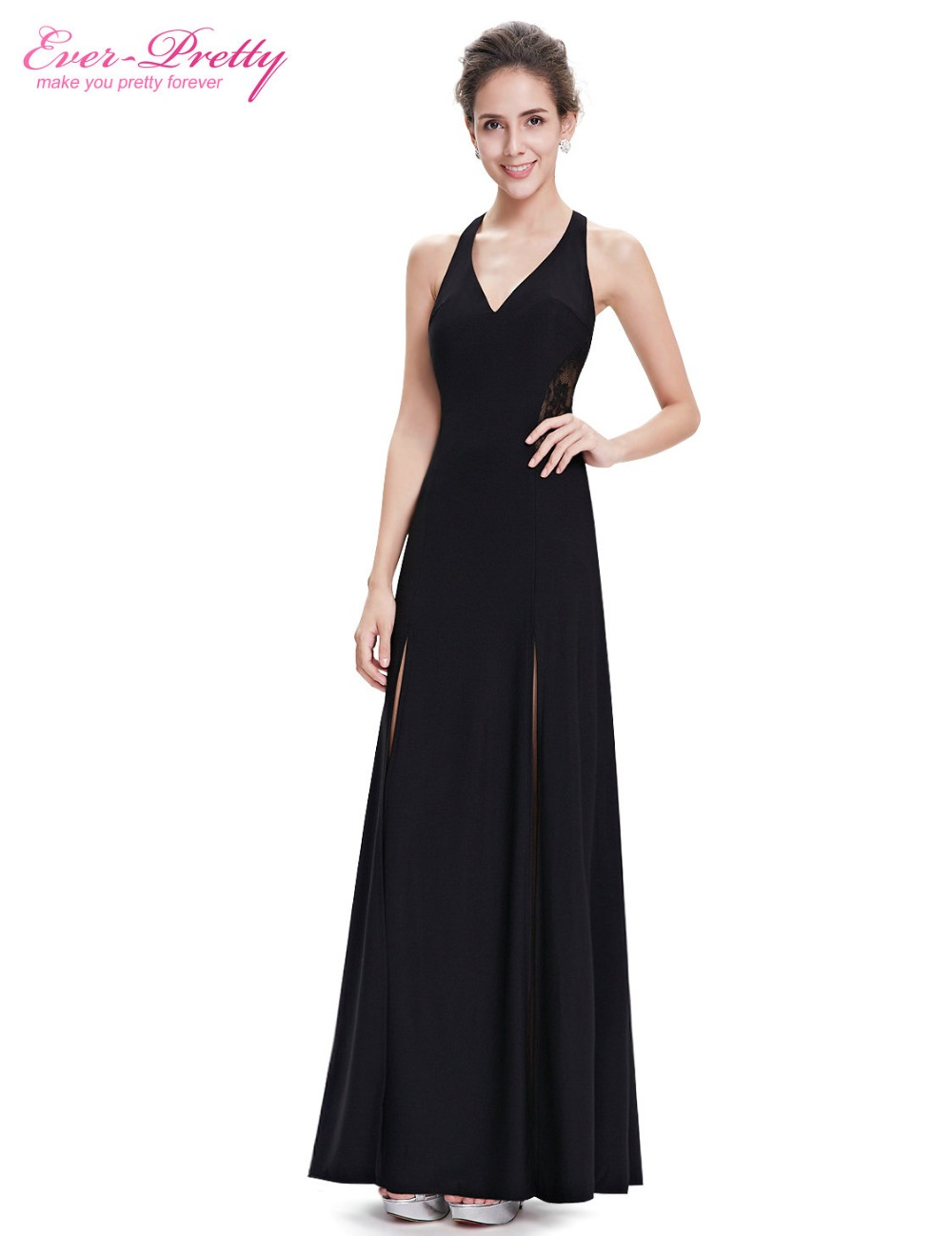 Compare prices on for ever yours online shoppingbuy low price ever pretty evening dresses he08695bk womens elegant black sleeveless sexy halter long evening dresses 2017 new ombrellifo Image collections