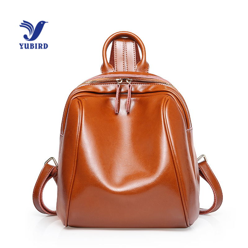 YUBIRD Vintage Women Backpack Cow Leather Preppy Style School Bags For Teenagers Girls High Quality Female Travel Back Packs dizhige brand women backpack high quality pu leather school bags for teenagers girls backpacks women 2018 new female back pack