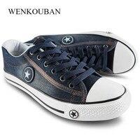Été chaussures décontractées hommes Denim toile baskets mode hommes formateurs Tenis Masculino Adulto à lacets chaussures plates Zapatillas Hombre 2020