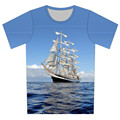 Children 2016 Summer 3D T Shirt Boat Plane Radar Tree Print Fashion T-Shirt Boy Girl Casual Funny Tee Tops Fit Height 95CM-155CM