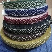 25MM width Woven Cotton thread Webbing Ribbon Wedding Decorative Lace Accessories DIY Handmade Materials 40Yards