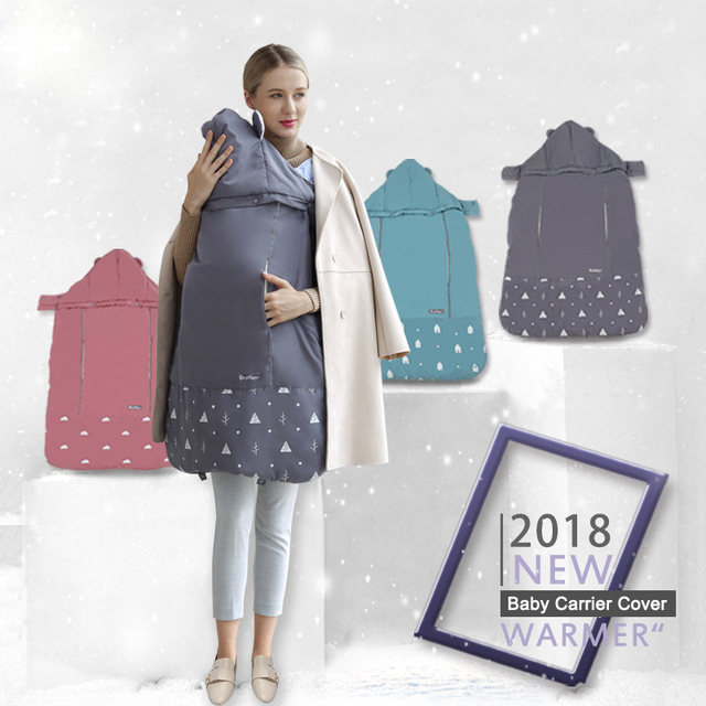 3a1b74b1554 Baby Carrier Cloak Warm Cape Stroller Pram Cover Wind Rain Snow Proof with  Velvet Lining Blanket Outdoor Necessary Autumn Winter