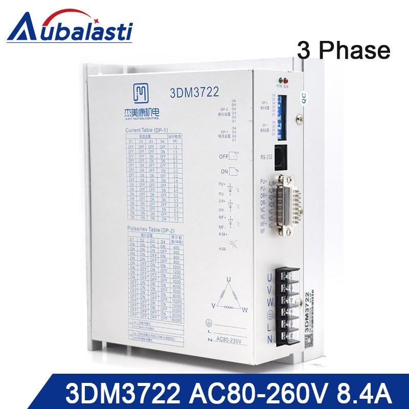 3phase AC stepper motor drver 3DM3722 input voltage AC80-260V match With 110 130 serial step motor use for cnc router3phase AC stepper motor drver 3DM3722 input voltage AC80-260V match With 110 130 serial step motor use for cnc router