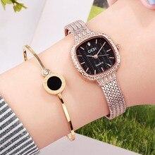 цена на 2019 Women Square Bracelet Watches Luxury Rhinestone Quartz Ladies Watch Elegant Female Women Wrist Watches Clock reloj mujer