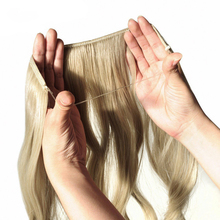 DIFEI 24 inch ארוך סינטטי שיער חום עמיד פאה דגי קו ישר שיער הרחבות סוד Invisible נוכריות