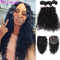 HC Peruvian Deep Wave With Closure Deep Curly Peruvian Virgin Hair With Closure Queen Peruvian Deep Wave Human Hair With Closure