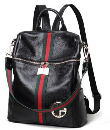 2PCS K303 Korean European style leather bag, women's bag, cowboy backpack, ladies' ladies' bags, large capacity
