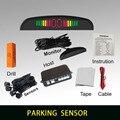 Buzzer asistencia de aparcamiento con 4 sensores y pantalla LED Radar de Reserva Reverso Del Sistema Indicador De Alerta 6 colores para elegir