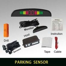 Summer auto einparkhilfe mit 4 sensoren und Led-anzeigen-rückunterstützungsradar-monitor-system Alarm Anzeige System 6 farben zu wählen