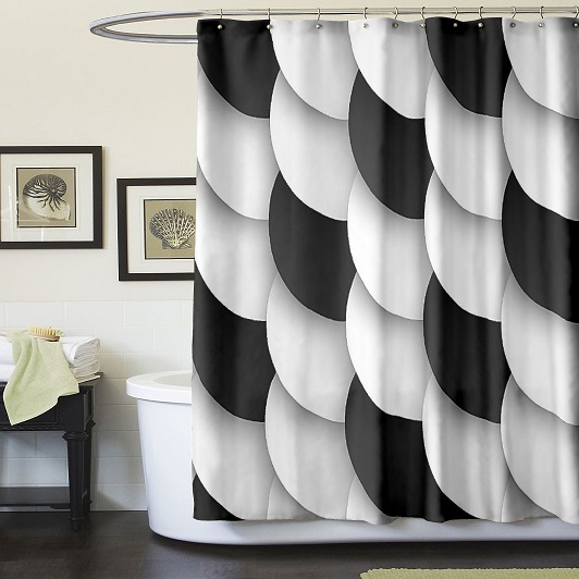 New Europe style black and white shower curtains unique shower ...