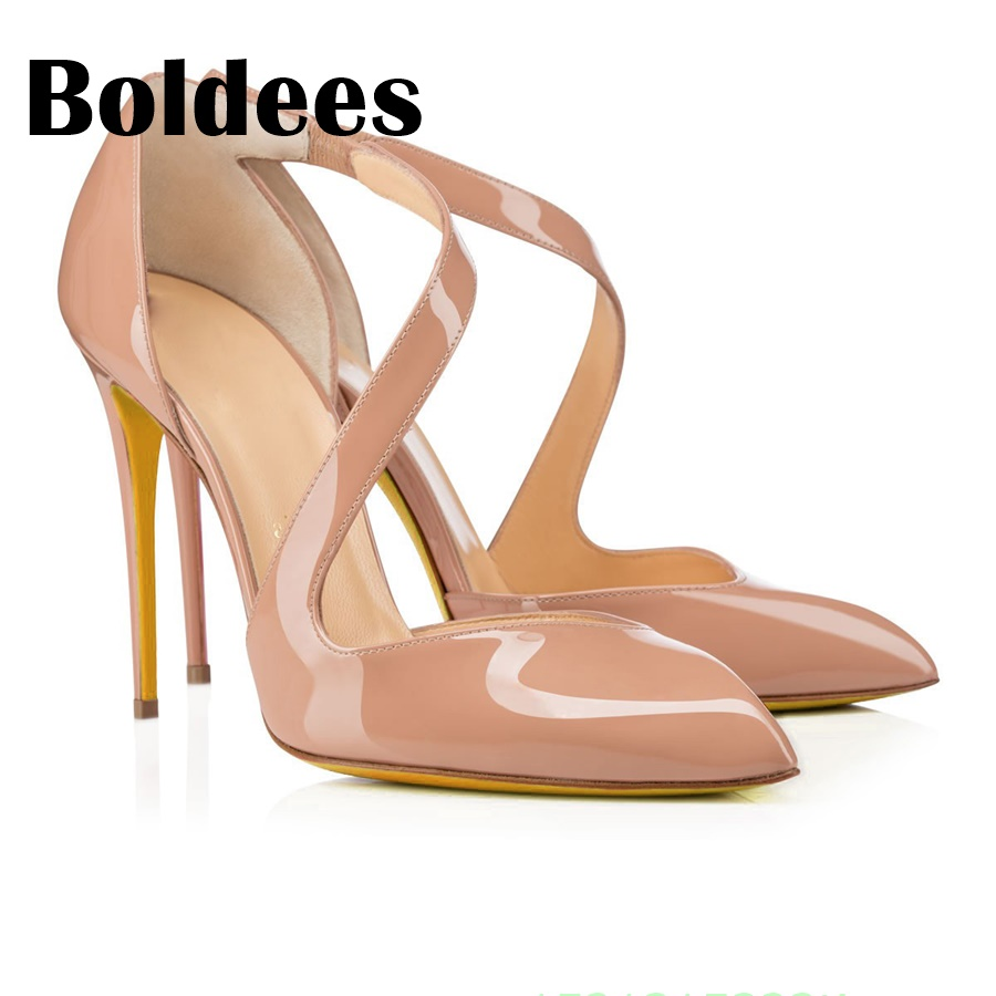 Boldee Pumps 2018 Pointed Toe Slip on High Heels Wedding Shoes Woman Ladies Fashion Thin Heel Zapatos Mujer Plus Size cdts 35 45 46 summer zapatos mujer peep toe sandals 15cm thin high heels flowers crystal platform sexy woman shoes wedding pumps
