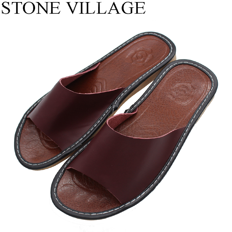 Size 35-44 Genuine Leather Home Slippers High Quality Women Men Slippers Non-slip Cool Indoor Shoes Men & Women Summer Shoes 1 12 scale dollhouse miniature furniture retro european palace bedroom bed 10339