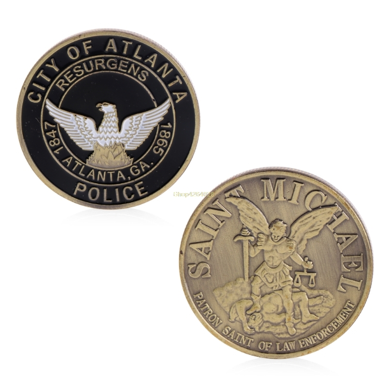 2018 Meaningful Saint Michael Atlanta Police Department Commemorative Challenge Coins Collection Token Art