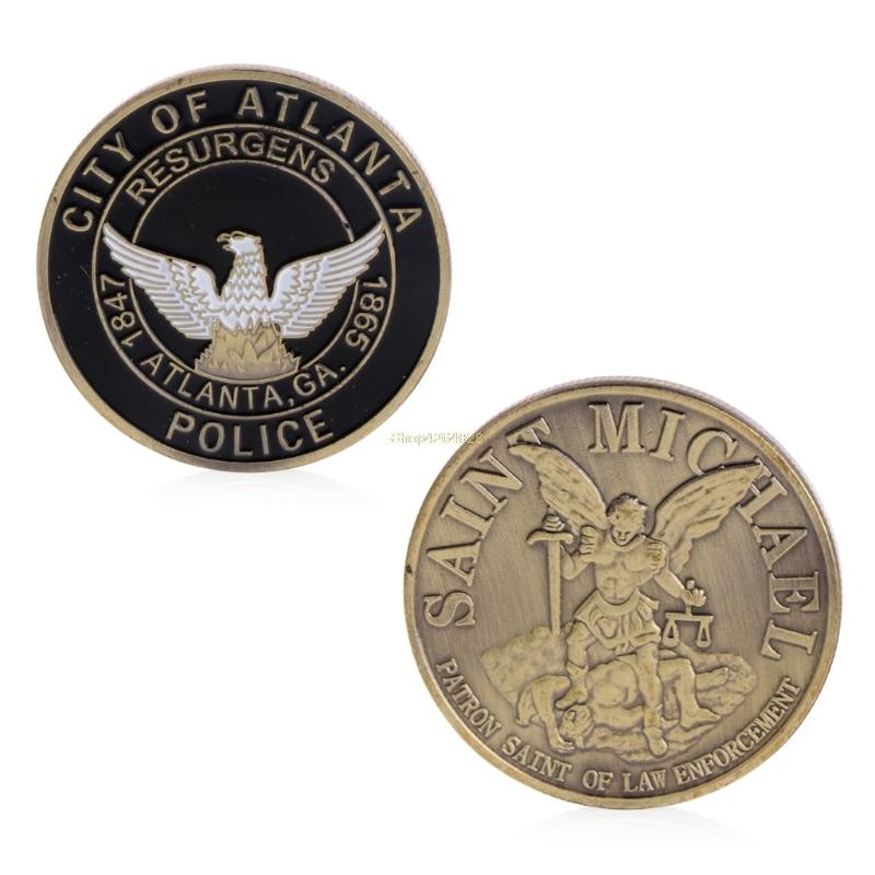 2018 Meaningful Saint Michael Atlanta Police Department Commemorative Challenge Coins Collection Token Art