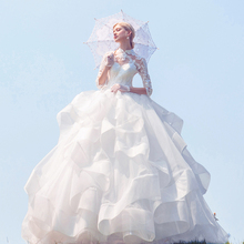 kejiadian Luxury Alibaba Wedding dresses ball gown train