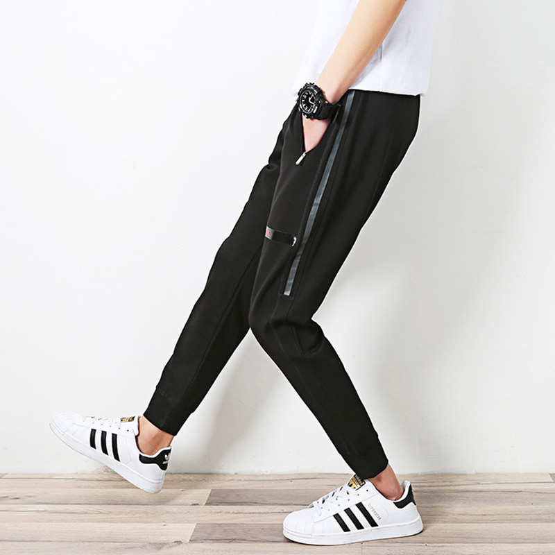 Slim Joggingbroek.Nieuwe Man Broek Casual Mode Parkour Slim Joggingbroek Hot Verkoop