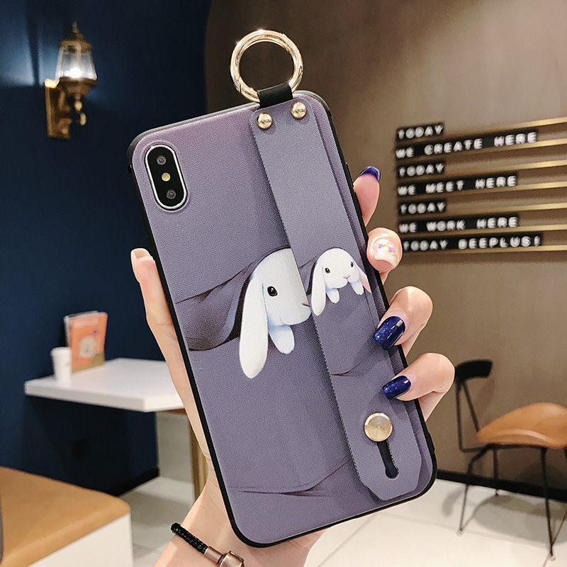Girls Fashion Case with Wrist Strap for iPhone 11/11 Pro/11 Pro Max 35