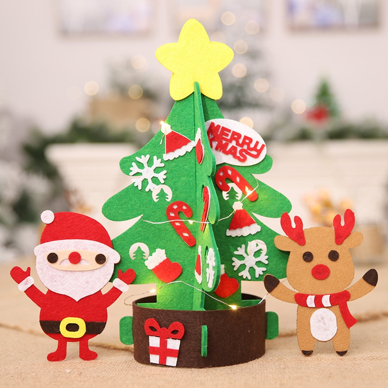 GNHYLL Kids DIY Felt Christmas Tree with Ornaments ...