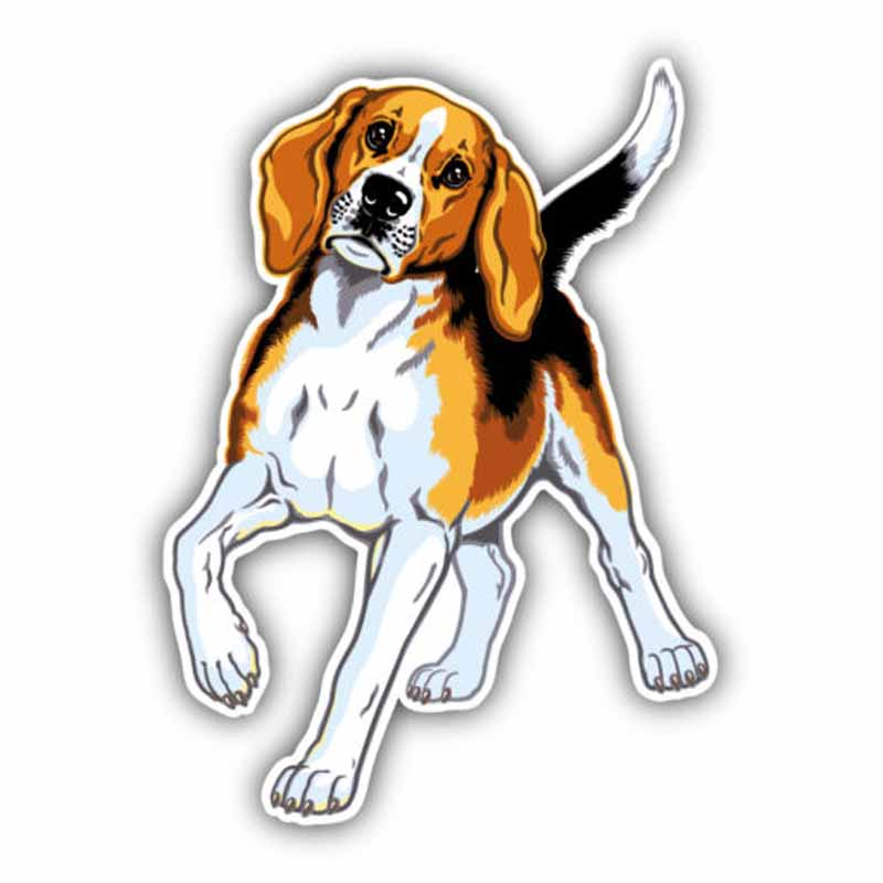YJZT 11CMx15.1CM Cute Beagle Breed Dog Creative Fashion PVC Material Car Sticker C1-9079