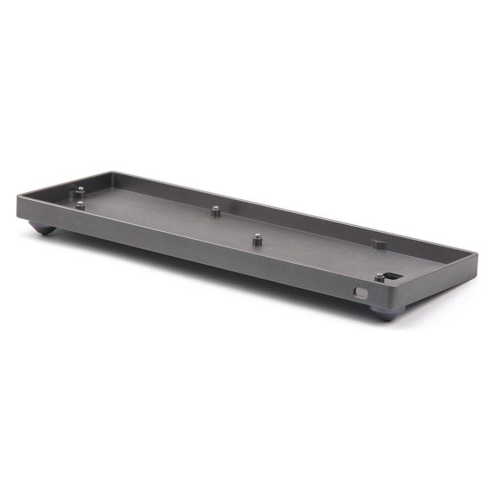 Su misura GH60 Kit Completo di Alluminio Caso Borsette chanical tastiera Per 60% Standard di Layout di Tastiera Meccanica Come Poker caso dz60