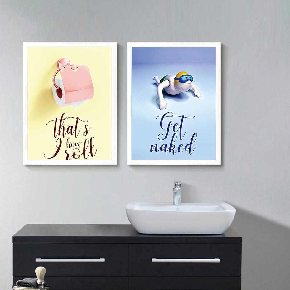 HD печать на стене работа холст картина для дома туалетная бумага Современные