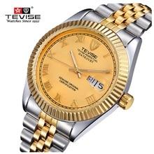 Marca Original TEVISE Hombres Mecánicos Automáticos Del Reloj Reloj Resistente Al Agua Reloj de Moda de Lujo Reloj de pulsera para Hombres Relogio masculino
