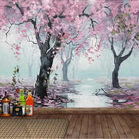 Custom Mural Wallpaper 3D Embossed Flowers Oil Painting Wall Paper For Living Room Bedroom Home Decor Wall Covering 3 D Frescoes