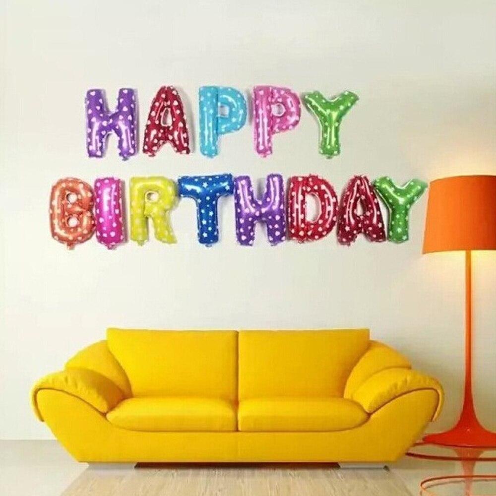 16 inch English Alphabet Balloon Set Birthday Party Happy Birthday ...