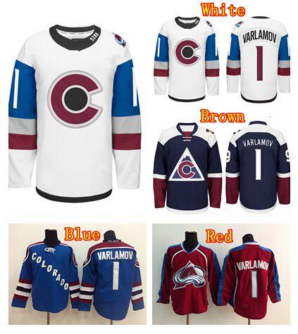 e6bcefff5 NWT 1 Semyon Varlamov Series Jersey 2016 Colorado Avalanche Stadium Ice Hockey  Jerseys ...
