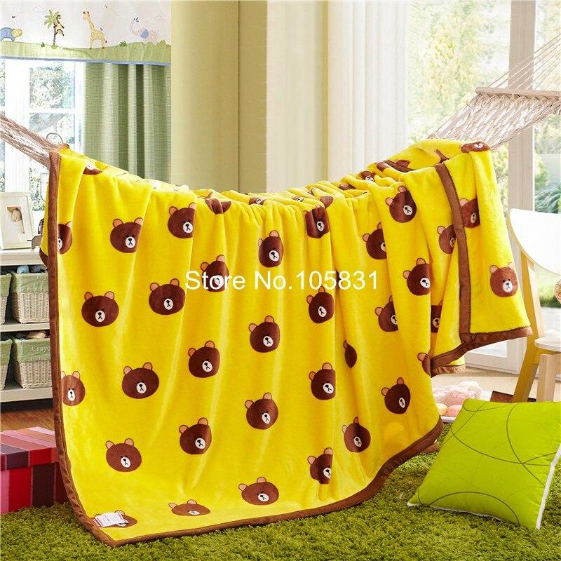 ФОТО Thickening super soft coral fleece blanket baby children's cartoon nap blanket carpet winter warm bed sheets Custom