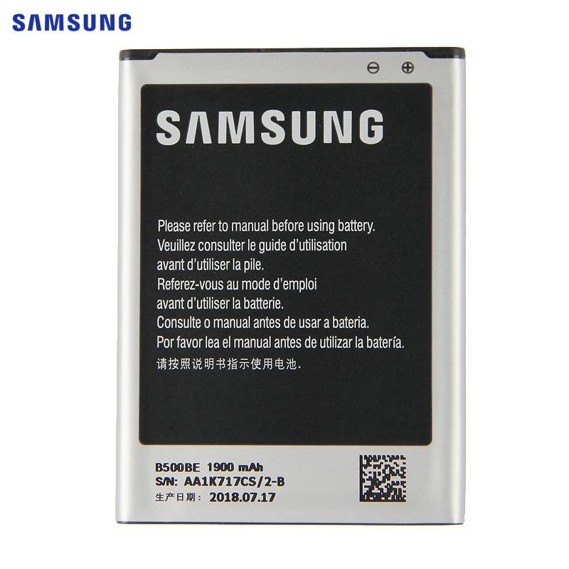 SAMSUNG B500BE Bateria de Substituição Original Para Samsung GALAXY S4 Mini I9190 I9192 I9195 I9198 S4Mini 3 pinos 1900 mAh Da Bateria