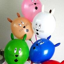 NASTASIA/25 шт. латексные шары в форме головы кролика, Разноцветные Детские вечерние шары высокого качества, игрушечный мультяшный шар особой формы