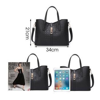 Herold Mode 3 Teile/sätze Frauen Handtaschen Leder Schulter Taschen Weibliche Große Kapazität Casual Tote Tasche Eimer Geldbörsen Und Handtaschen